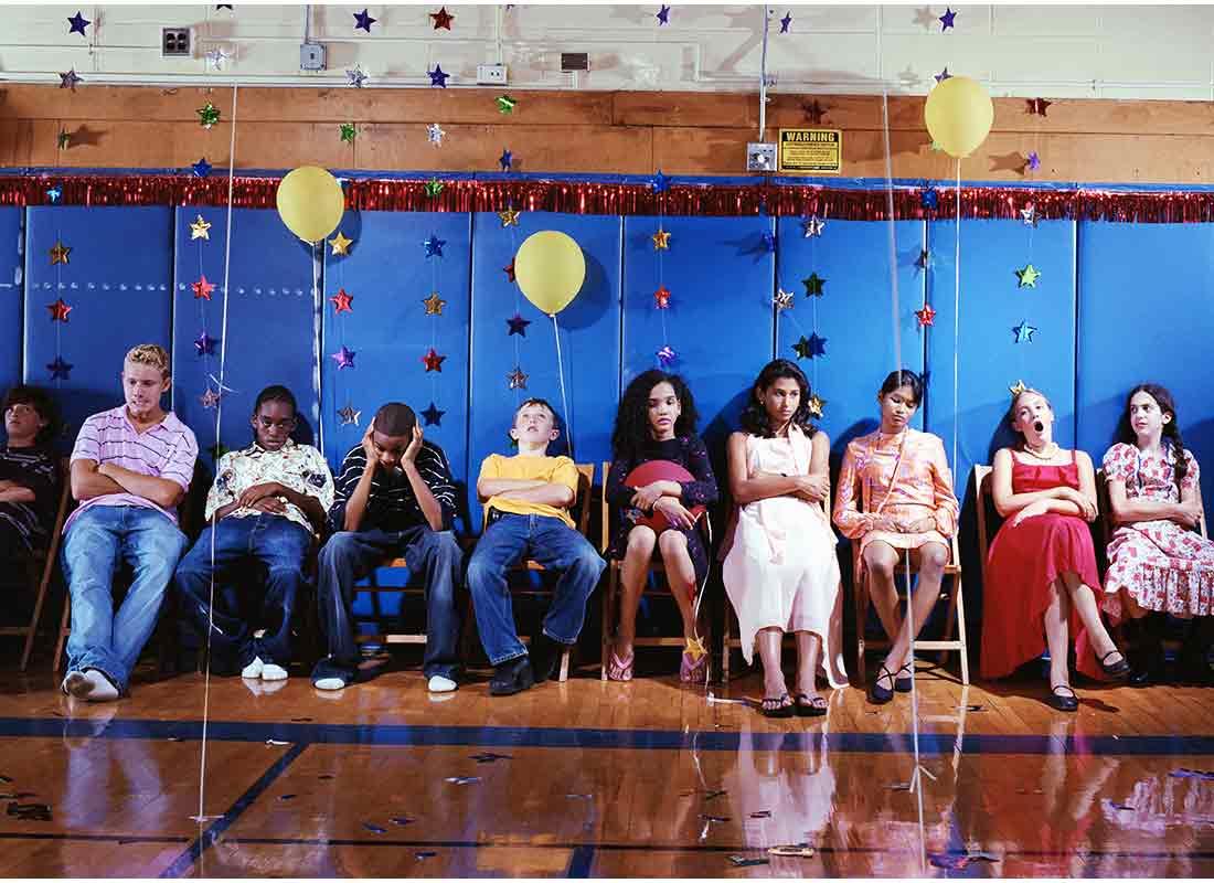teens not dancing at school dance