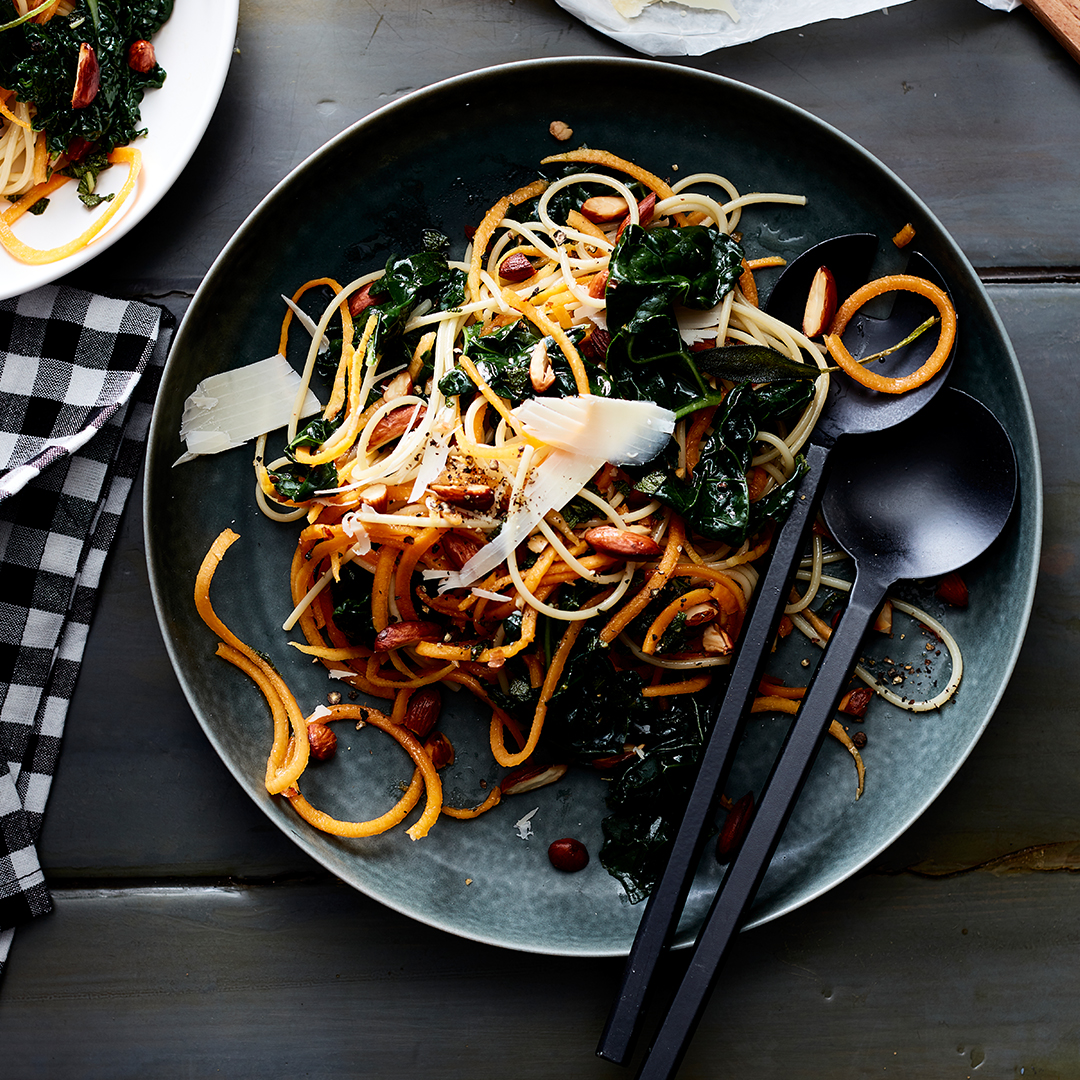 Pasta with Butternut Squash and Kale