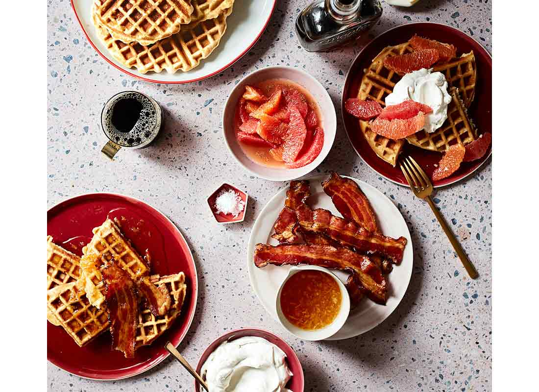 DIY Waffle Toppings Bar for the Best Holiday Breakfasts Ever