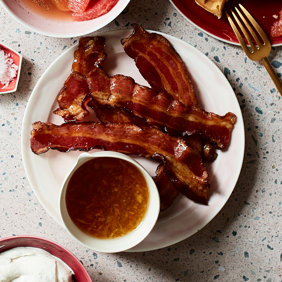Syrup-Glazed Bacon