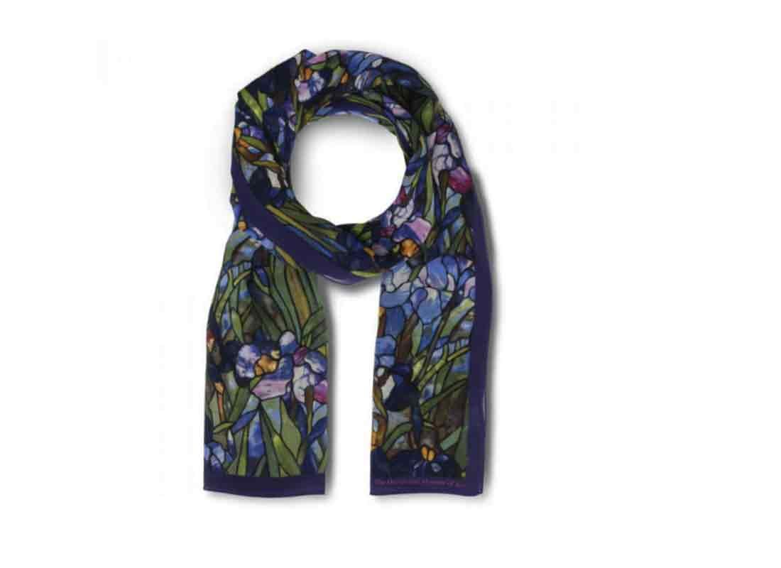 Louis C. Tiffany Irises Scarf