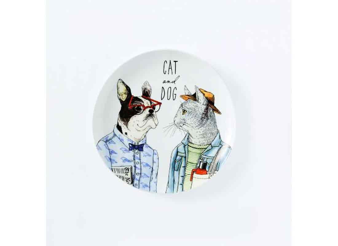 Dapper Animal Salad Plate