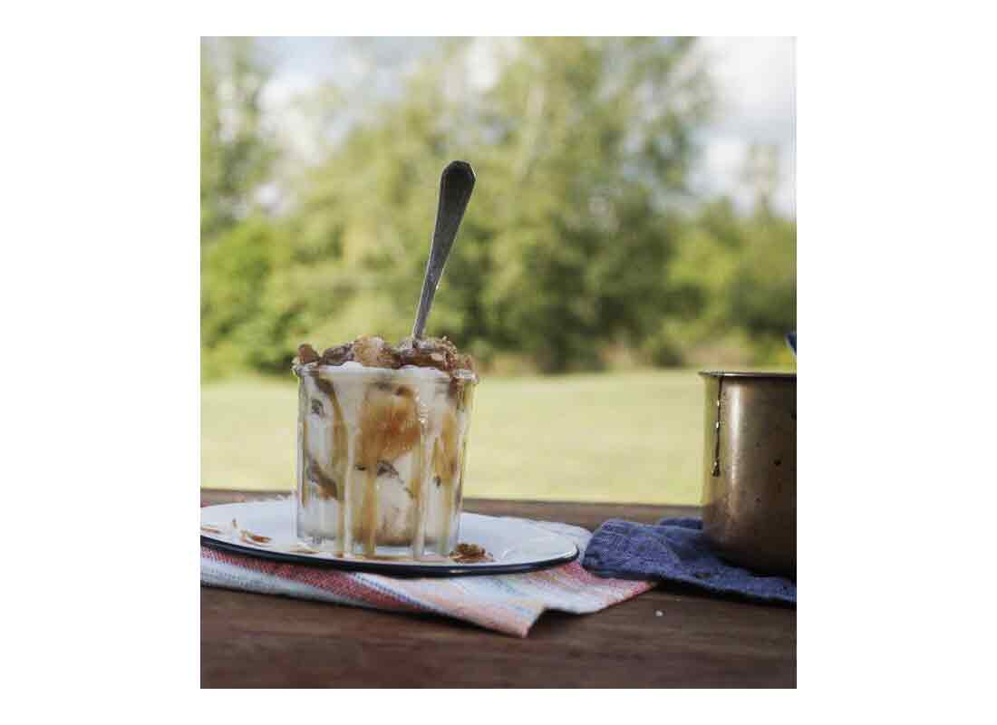 Leftover Pie and Ice Cream Sundaes with Salted Caramel Sauce