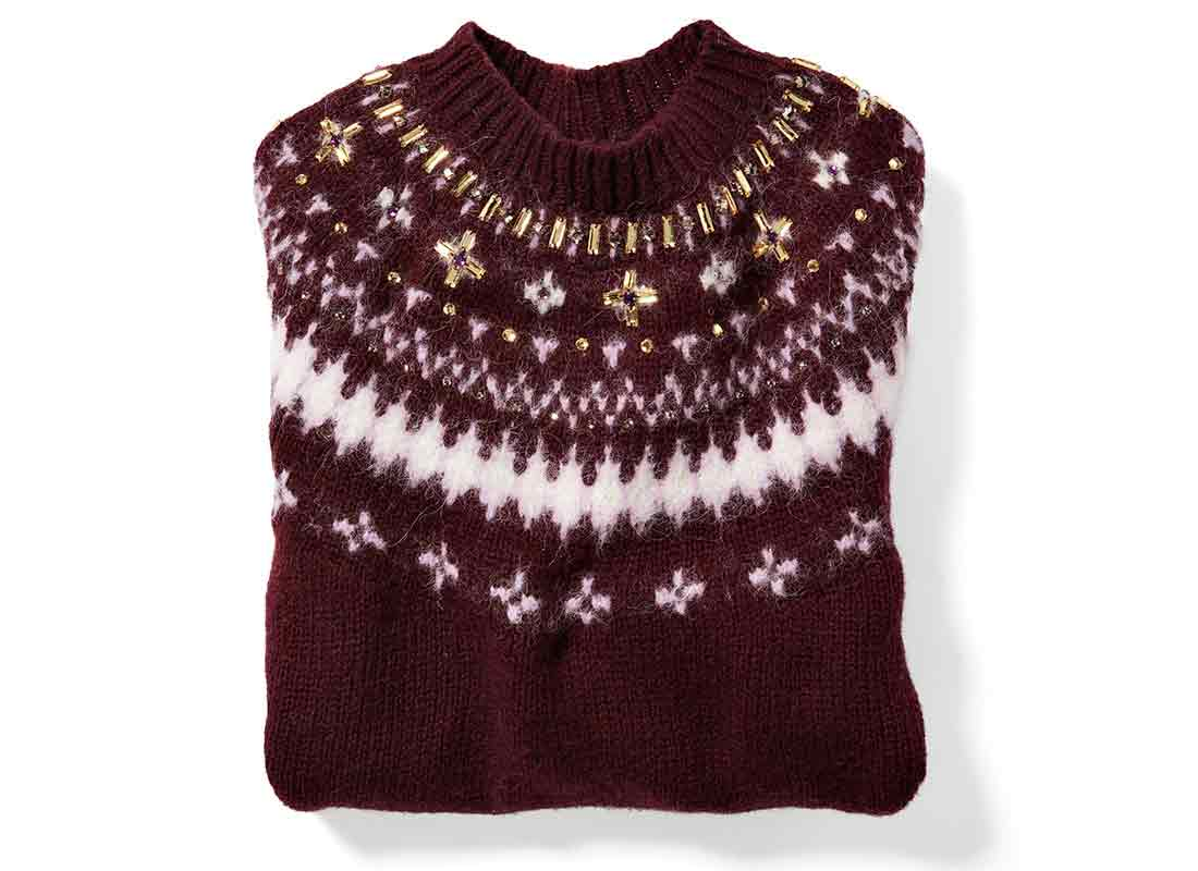 Clyde Embellished Fair Isle sweater