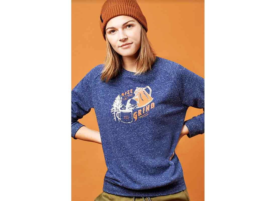 United By Blue Rise & Grind Crew Pullover