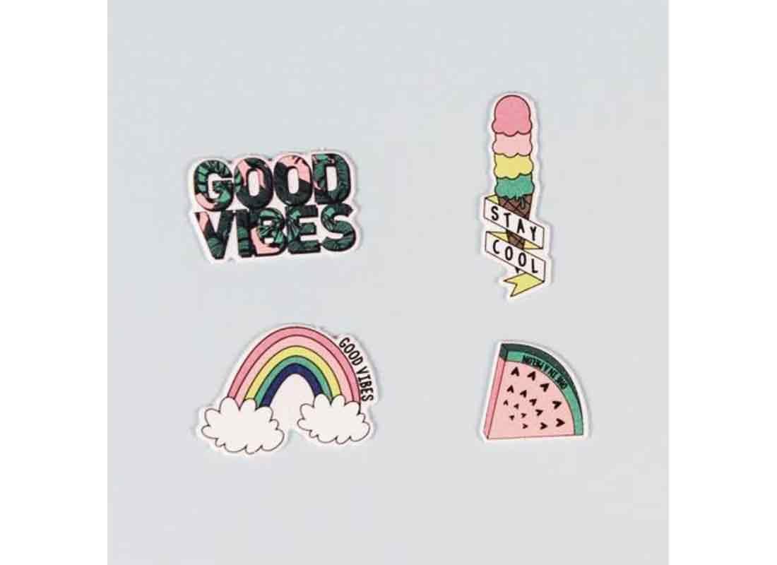 Yoobi 4 Pk Puffy Stickers - Good Vibes