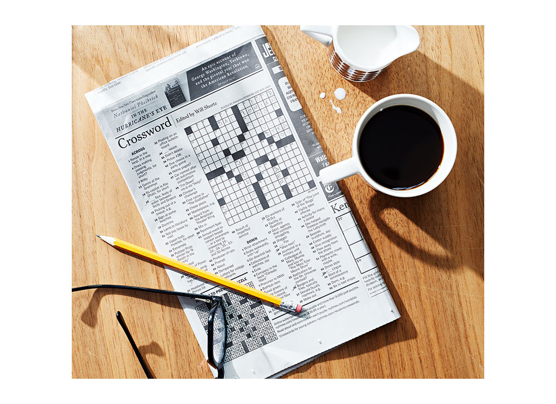 brain boost via crossword puzzle