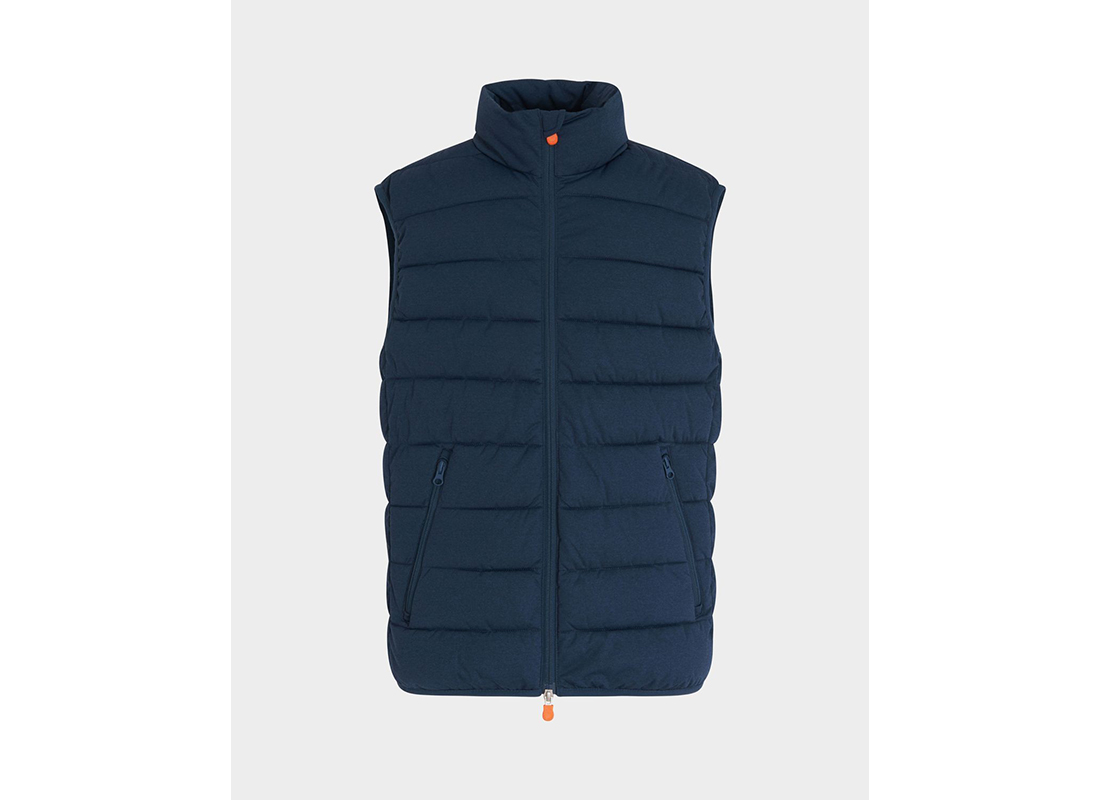 Save the Duck Men's Angy Vest in Navy Blue Melange