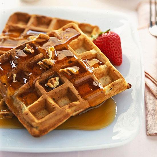 Banana-Pecan Waffles