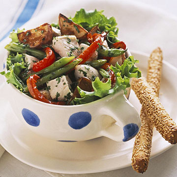 Chicken & Roast Vegetable Salad