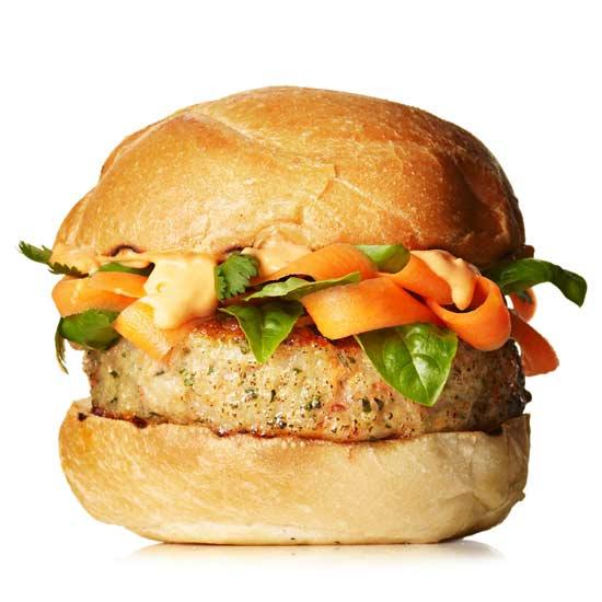 Thai Shrimp Burger