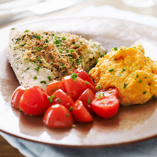 Baked Flounder with Herbed Panko