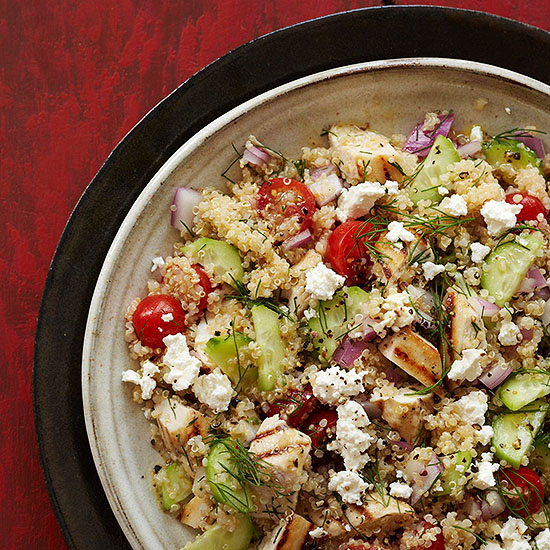 Greek Chicken- Quinoa Salad