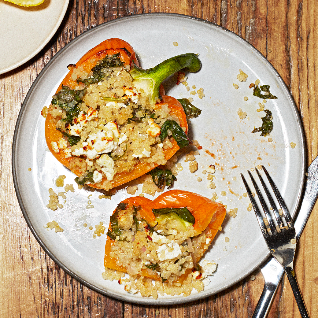 bell peppers stuffed with quinoa