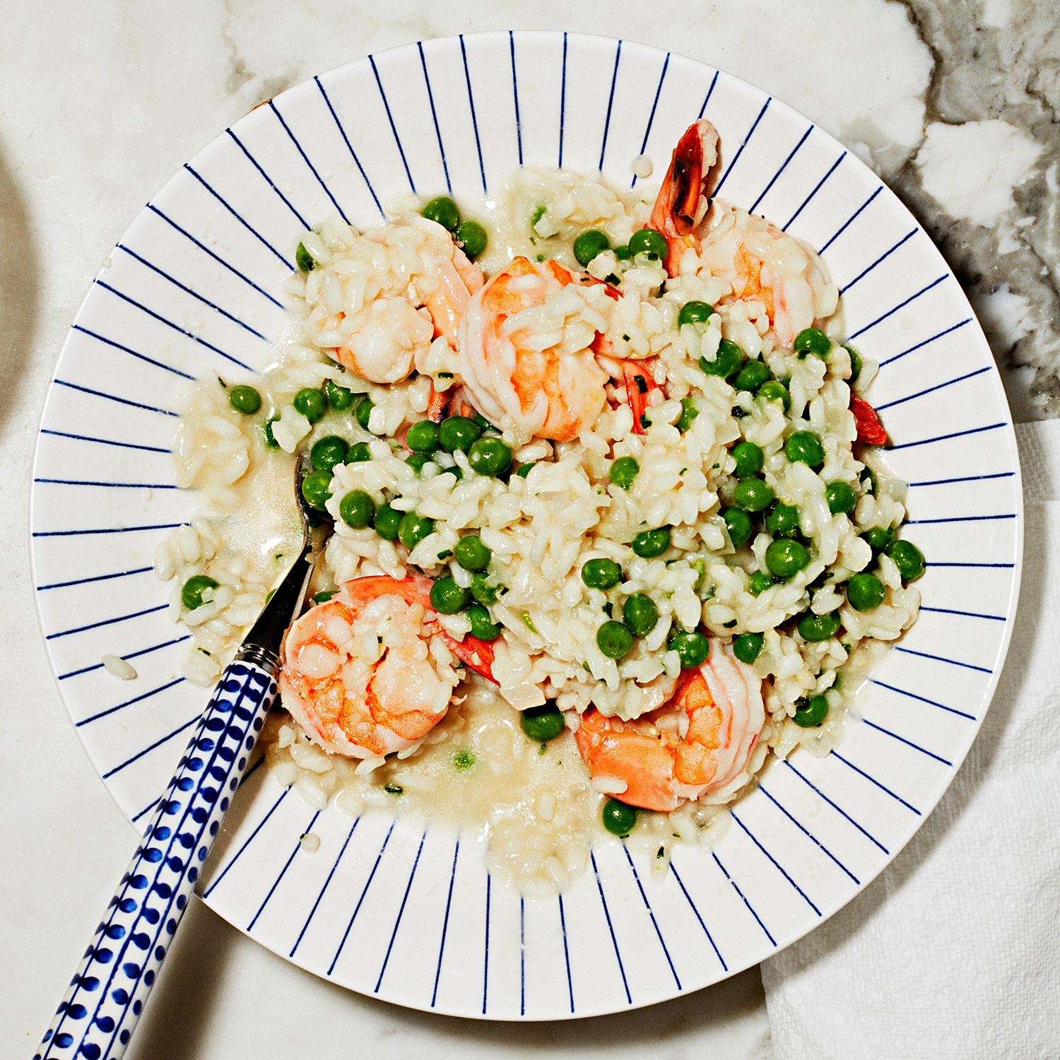 quick shrimp risotto with instant pot
