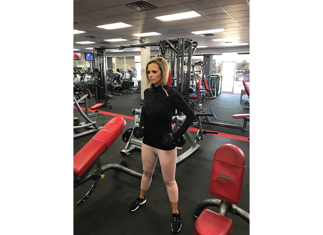 Tiffany Howard AFTER her weight loss, working out at the gym