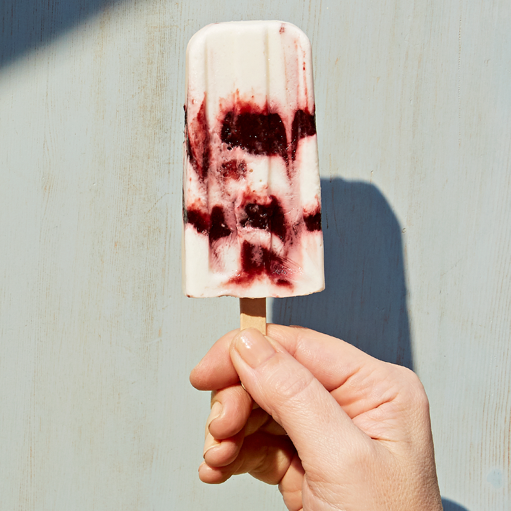 Dark Cherry Yogurt Pops