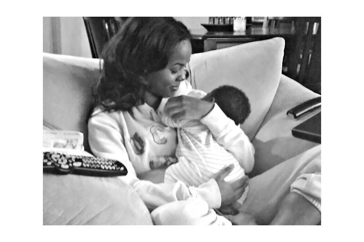 Dana L. Davis with her autistic daughter