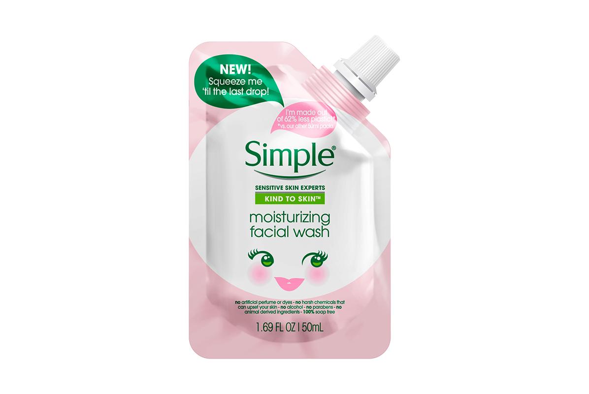 Simple Skincare Moisturizing Facial Wash Pouch