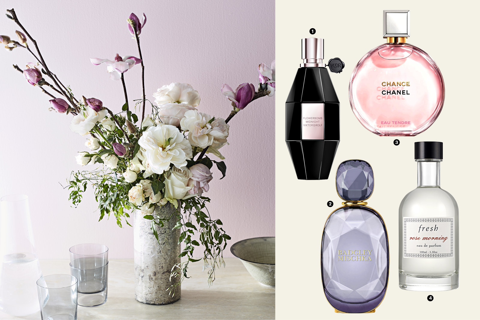 flowers and perfume for Mother's Day