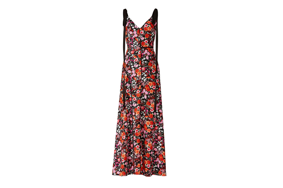 prom dress rental from Rent the Runway is a multi-floral print maxi by Goen J.