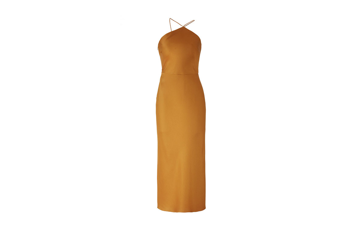 prom dress rental from Rent the Runway is the Caramel Slip Gown from the Jason Wu Collection