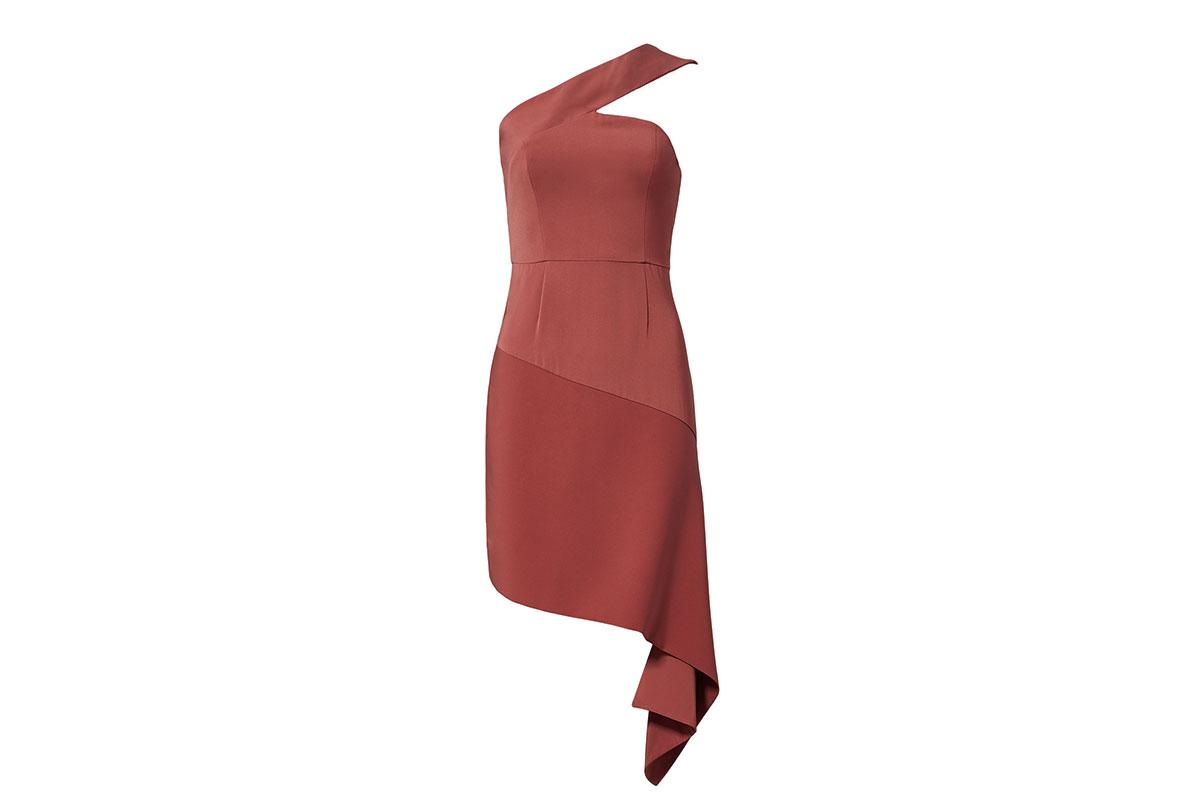 prom dress rental from Rent the Runway is a Keepsake pink asymmetrical hem sheath