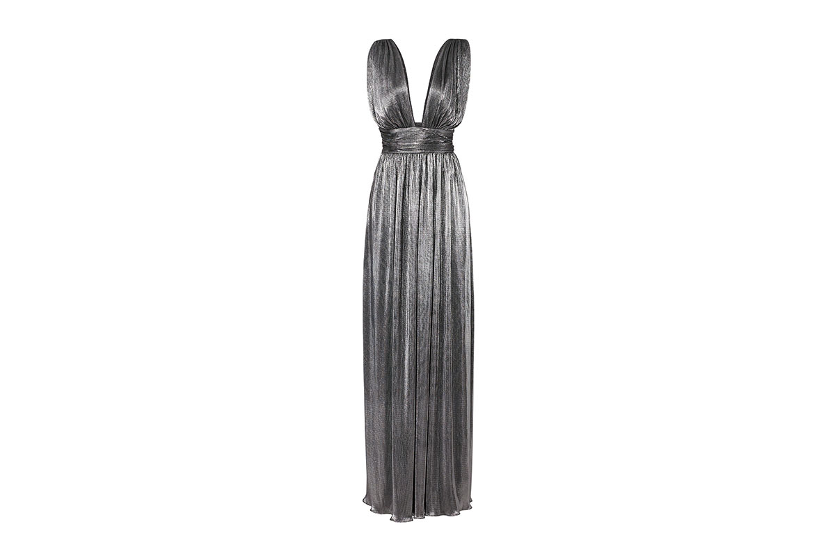 prom dress rental from Rent the Runway is a Metallic Shirred Gown from Laundry by Shelli Segal