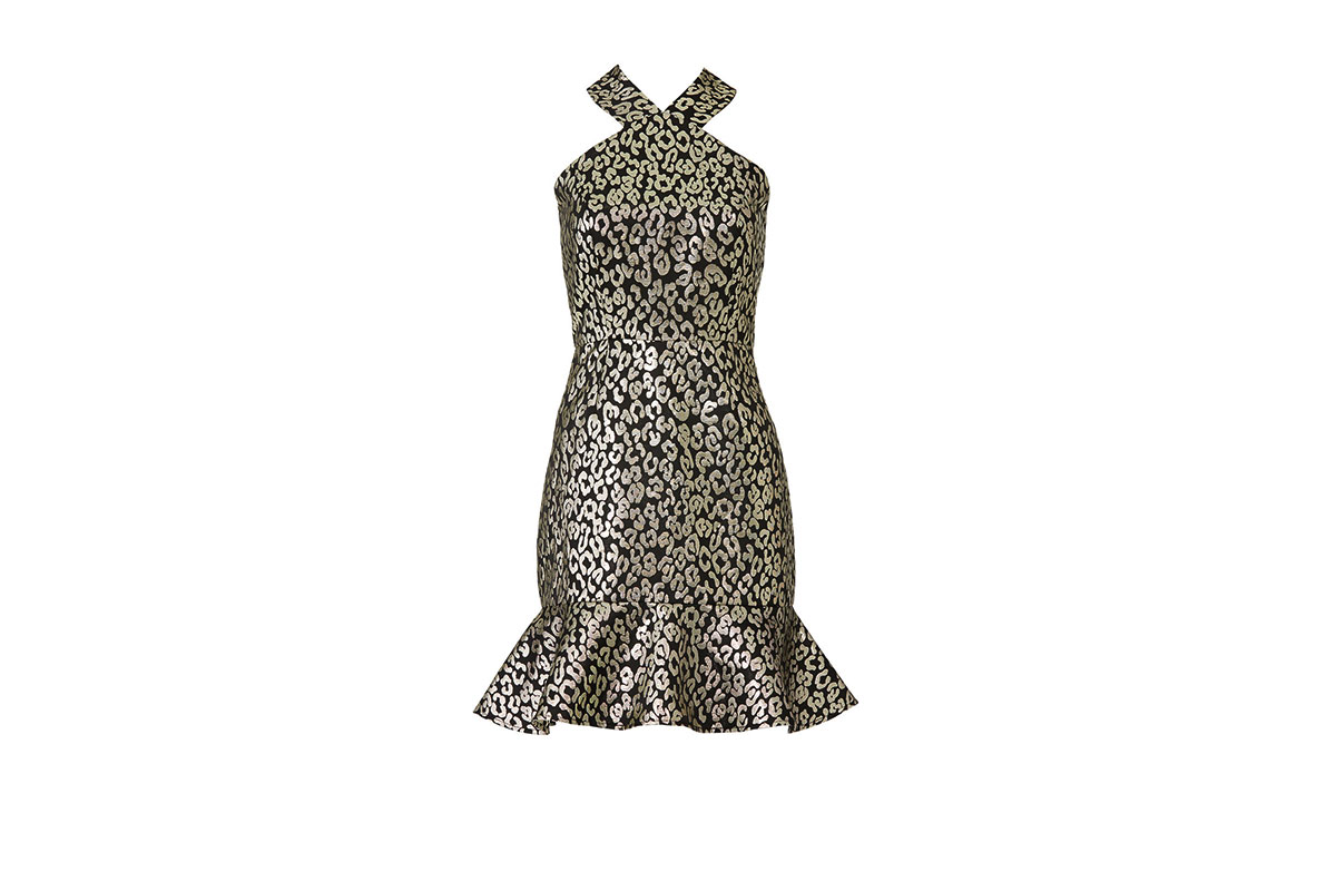 prom dress rental from Rent the Runway is a Metallic Leopard Dress by Slate & Willow