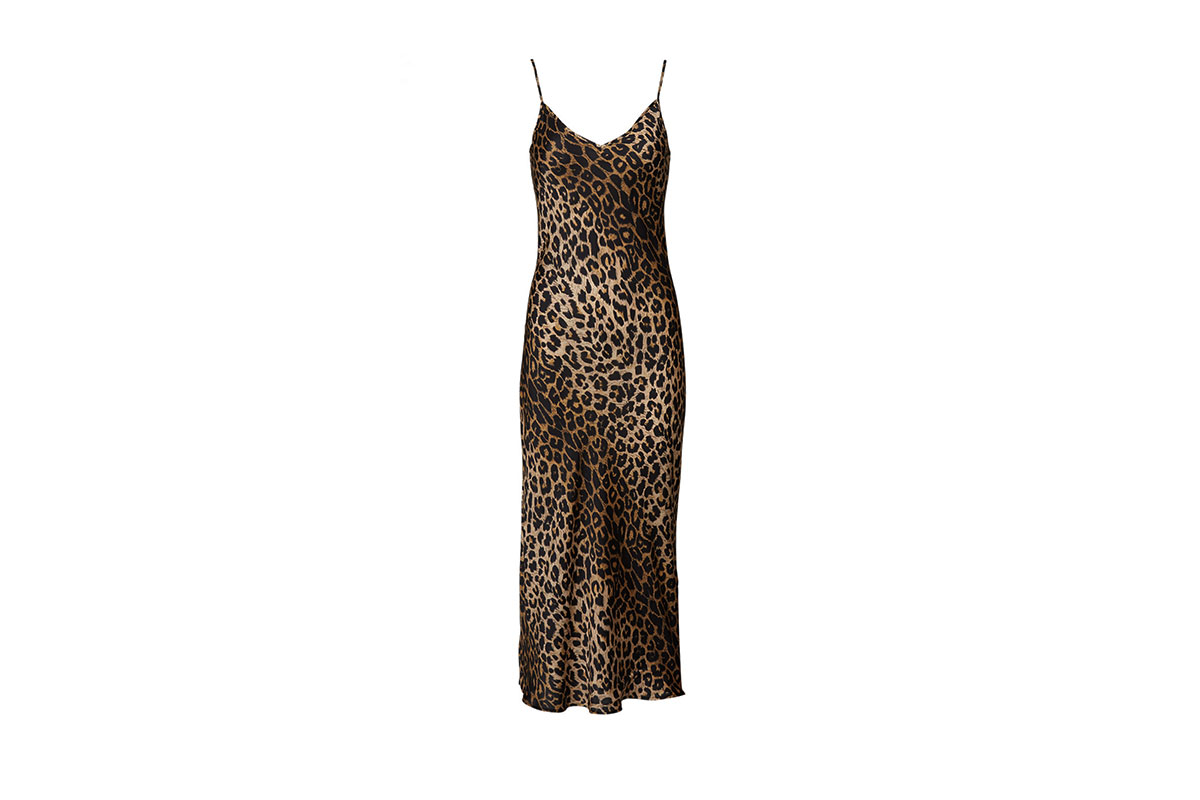 prom dress rental from Rent the Runway is the Hera Leopard Dress by AllSaints