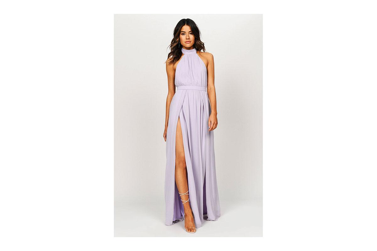 Tobi Tara Lavender Halter Maxi Dress ($