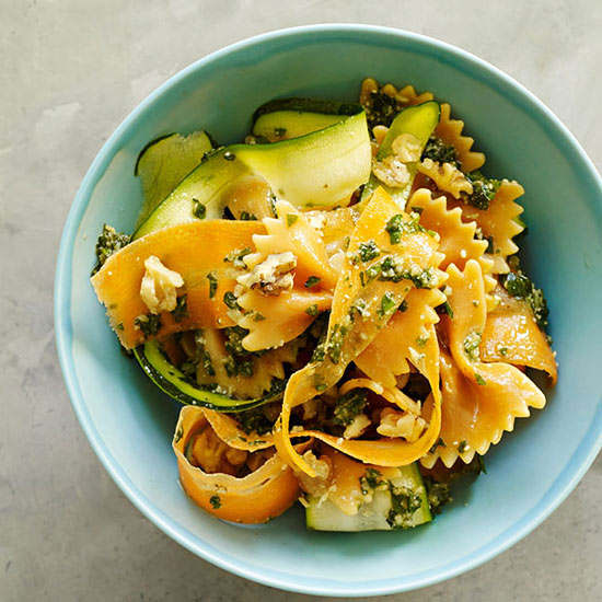 Zucchini-Carrot Ribbons with Farfalle