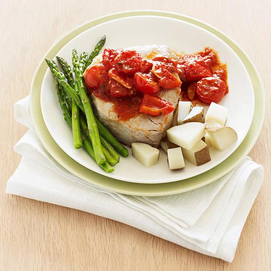 Tuna With Fresh Cherry Tomato Sauce