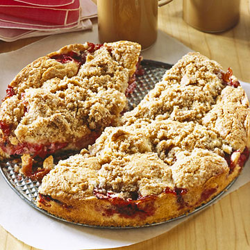 Strawberry-Rhubarb Buckle
