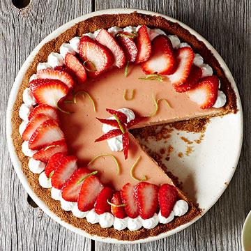 Strawberry Key Lime Pie