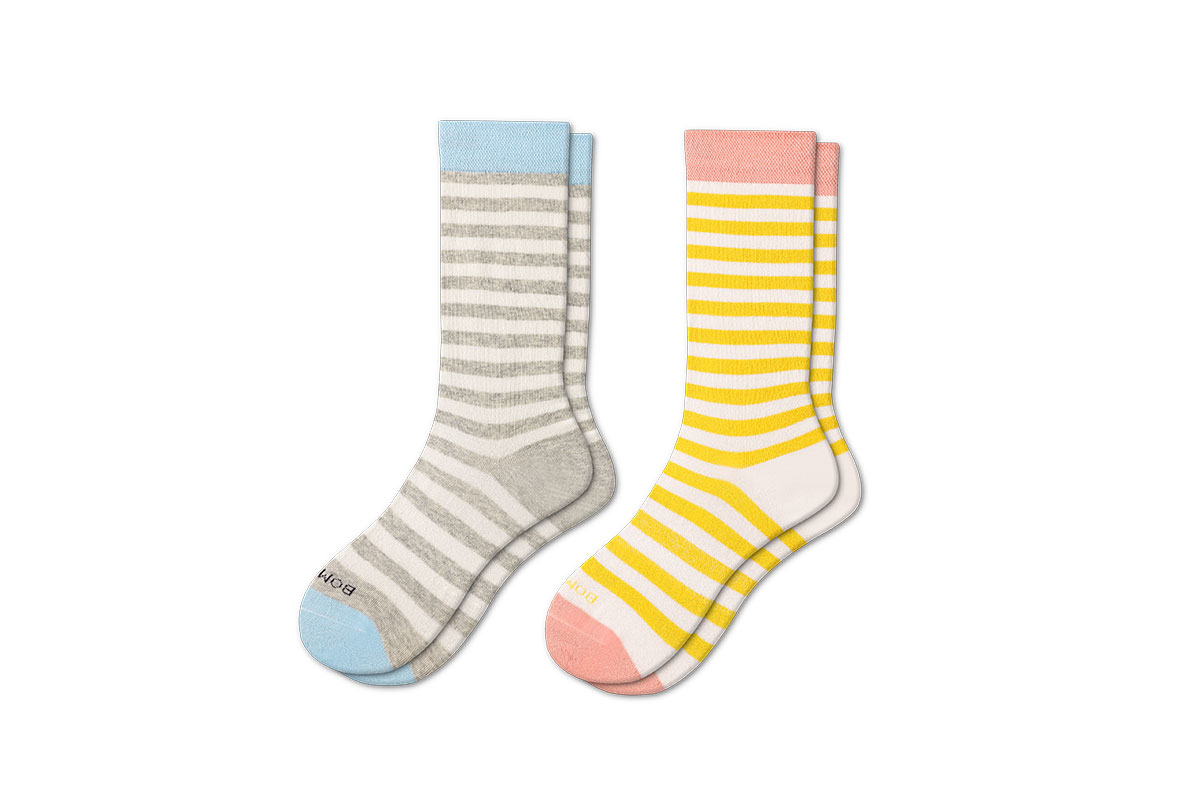 Bombas Women's Shadow Stripe Quarter Socks