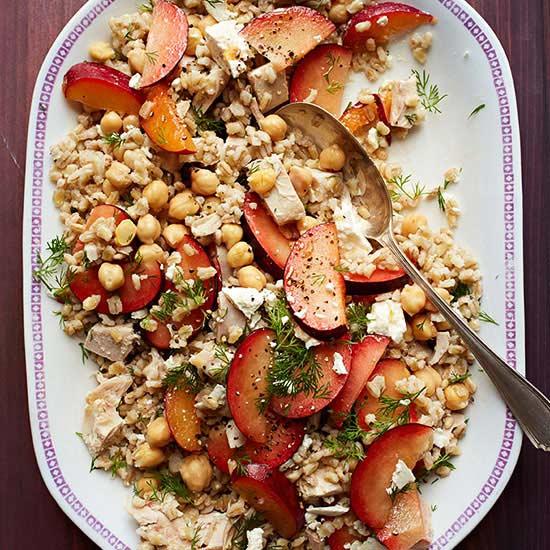 Barley, Plum and Chicken Salad