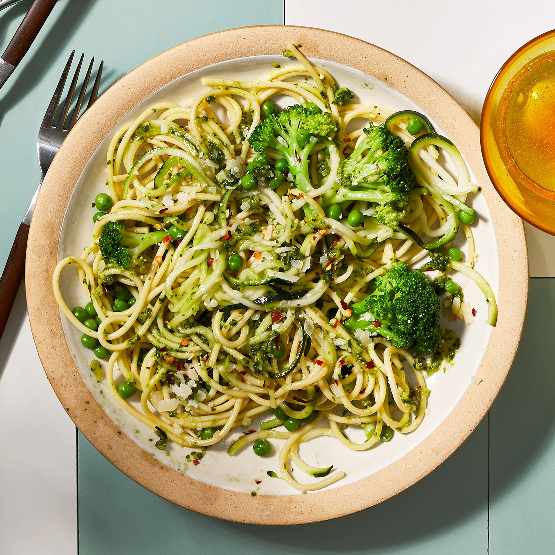 Halfway Healthy Spaghetti Pesto
