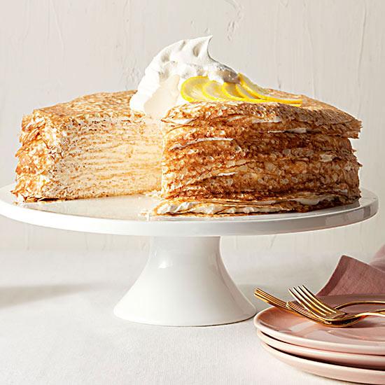 Layered Lemon Crepe Cake