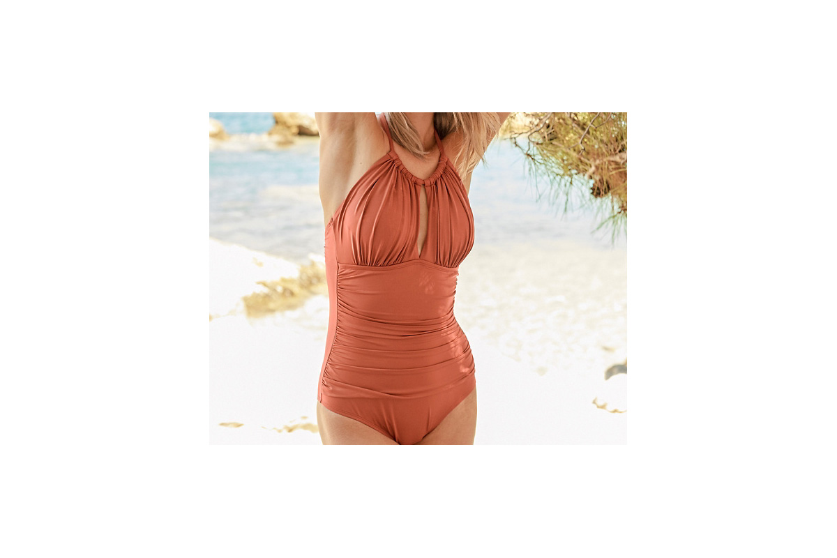 Kenneth Cole High-neck one-piece