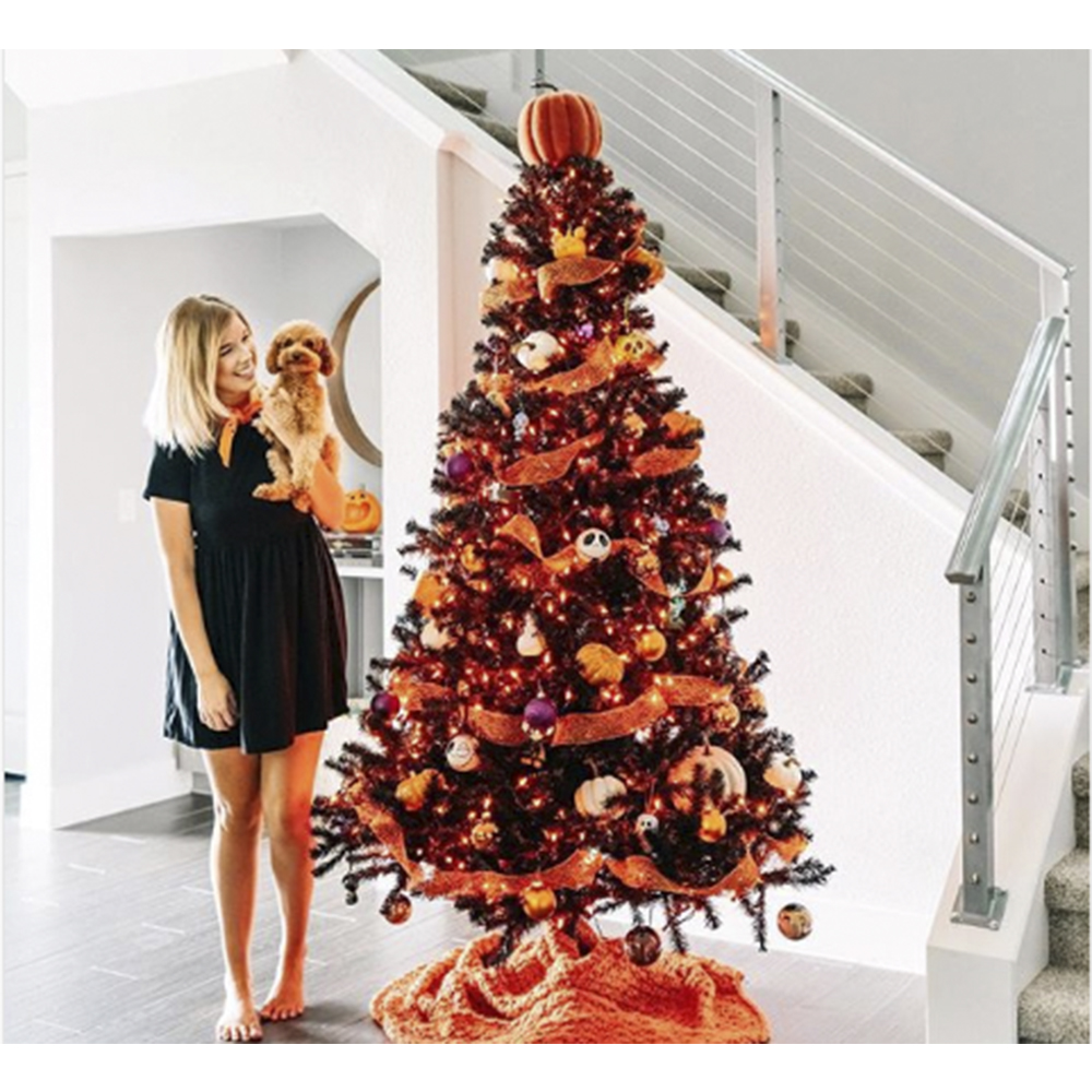 Halloween Christmas Trees Are a Trend & It's a Little Creepy