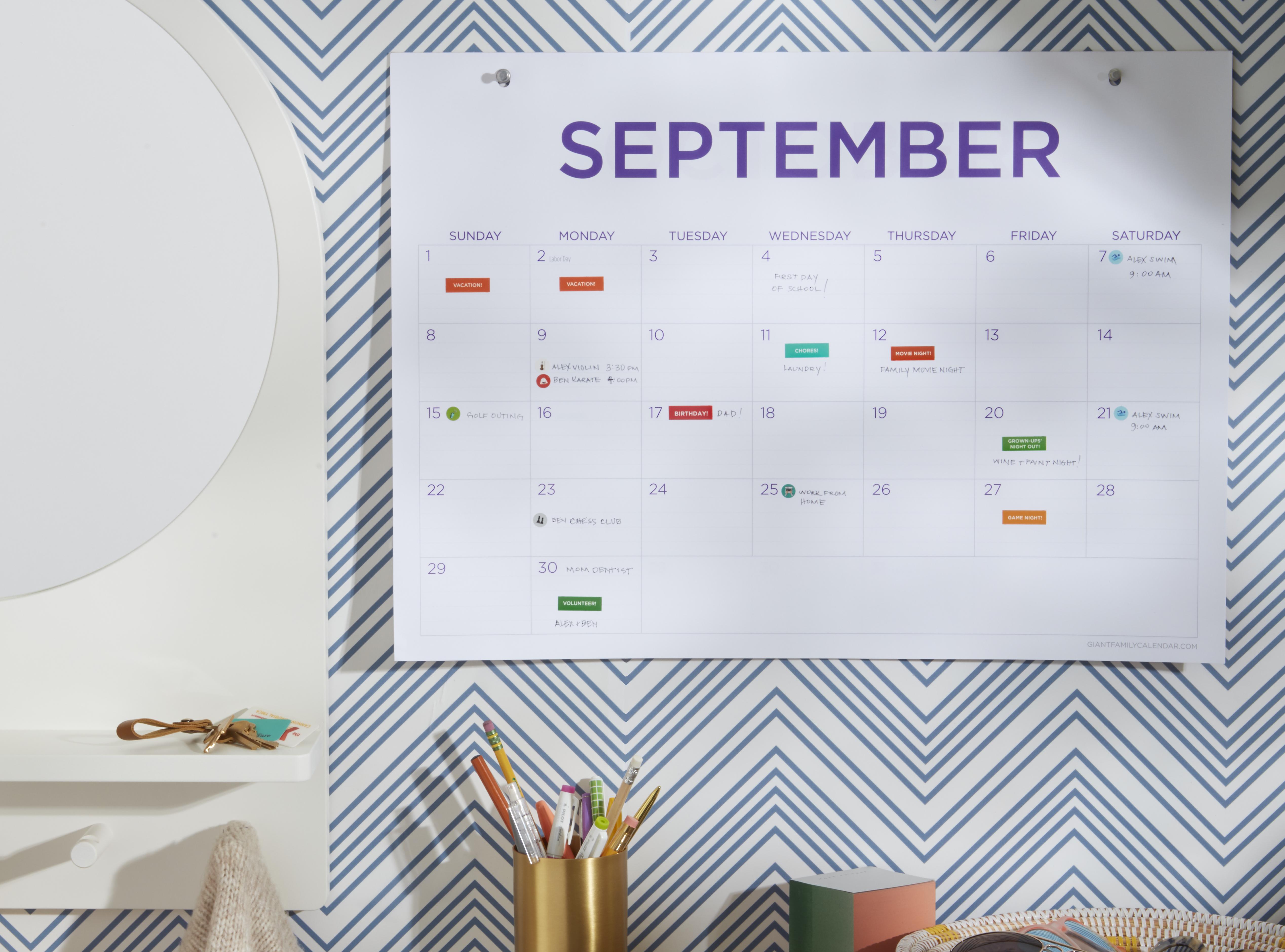 September 2019 calendar giveaway