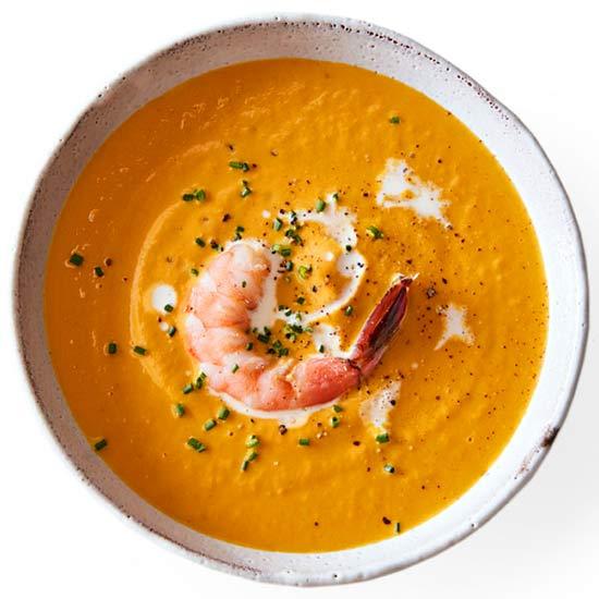 Pumpkin-Shrimp Bisque