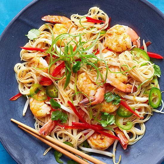 Singapore Shrimp Noodles