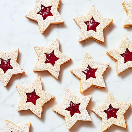 Raspberry Linzer Stars