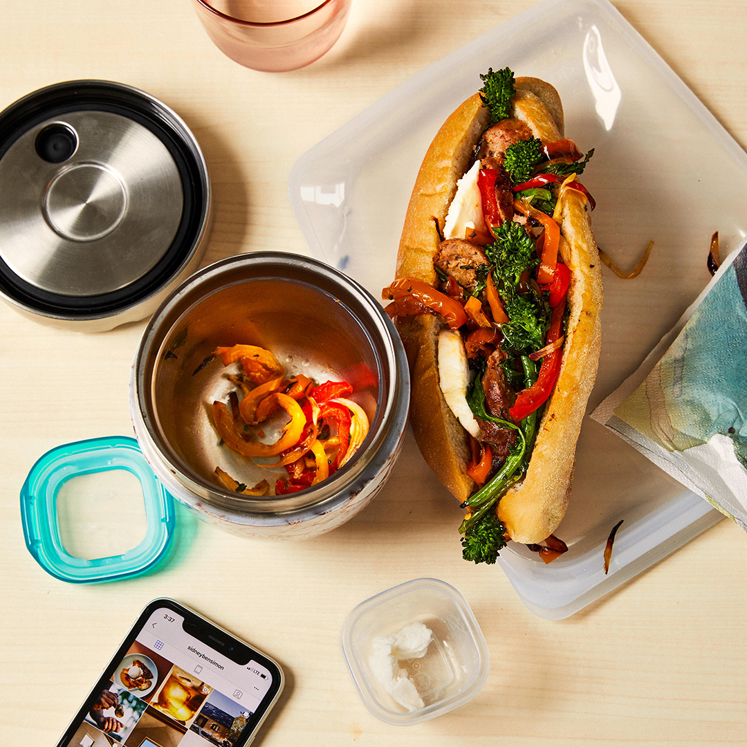 Sausage and Broccoli Rabe Hoagie sandwich on table