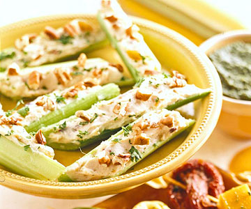 Cream Cheese-Stuffed Celery Sticks