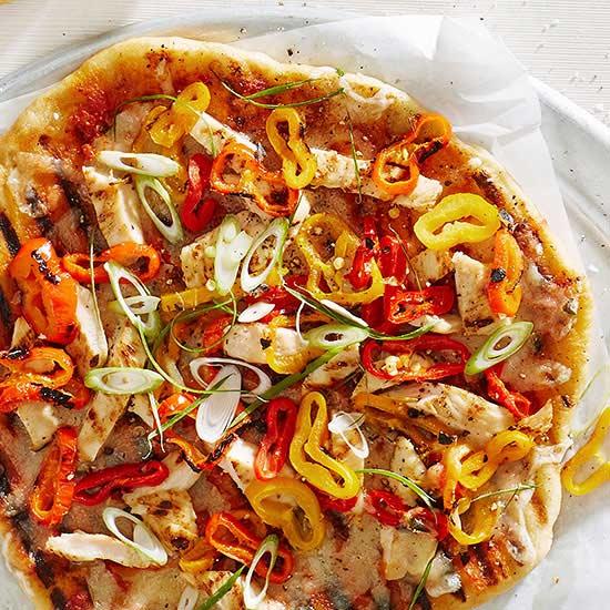 Grilled Chicken Peperonata Pizza