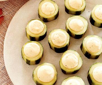 Cheesy Cucumber Bites