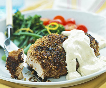 Pecan-Crusted Chicken Cutlets